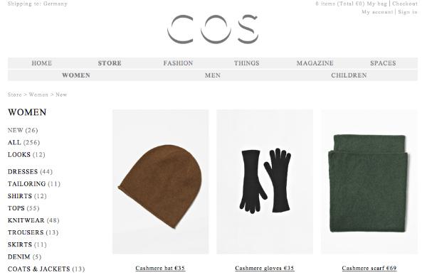 COS onlinestore