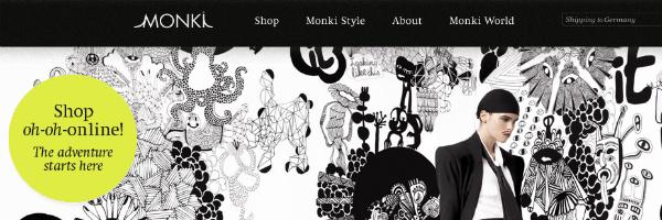 monki online shop