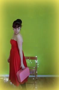 Schulterfreies Kleid Rot Asos © www.einfach-machen.blog