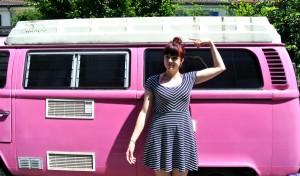 striped dress vw bus
