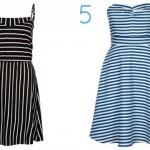 streifenkleid ohne models