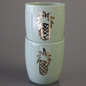 Ananas Espresso Becher