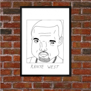 Kanye West Badly Drawn Poster