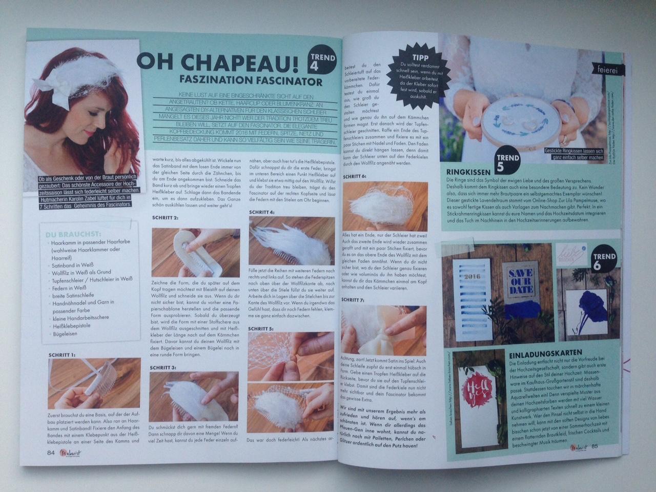 Makerist Magazin Fascinator