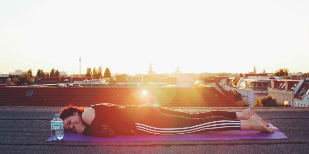 yoga auf dach